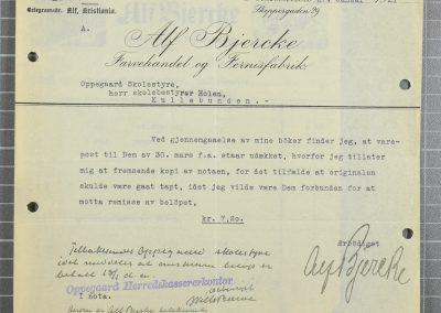 OF Alf Bjercke med signatur