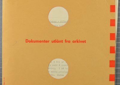 dokumenter utlånt fra arkivet lyst